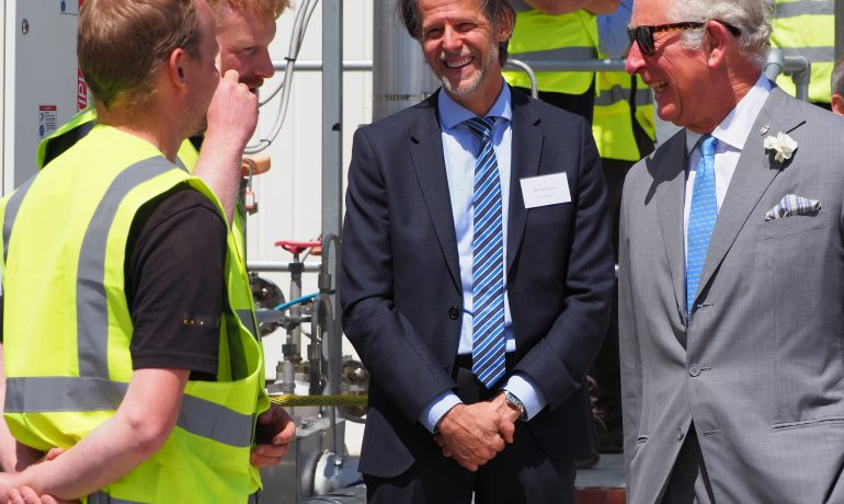 The Prince of Wales opens pioneering green CO₂ capture facility